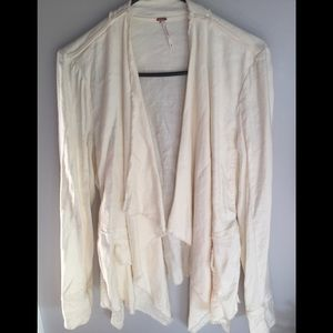 Free People linen slouchy, Ivory color wrap